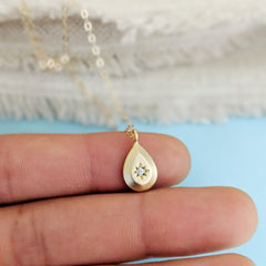 Aurora Teardrop Necklace