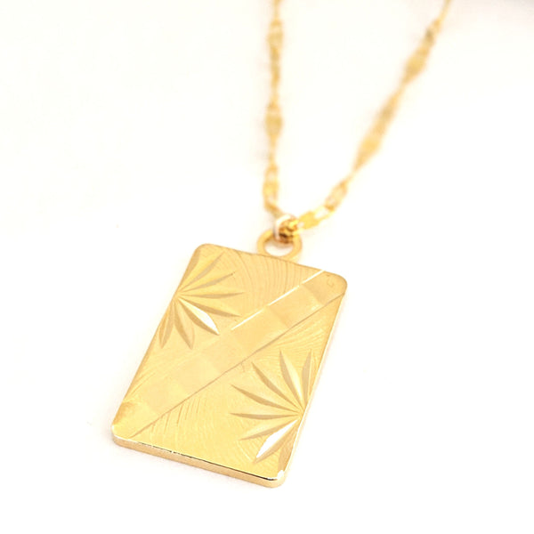 Bamboo Frond Necklace