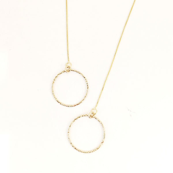 Textured Circle Hoop Threader - Small