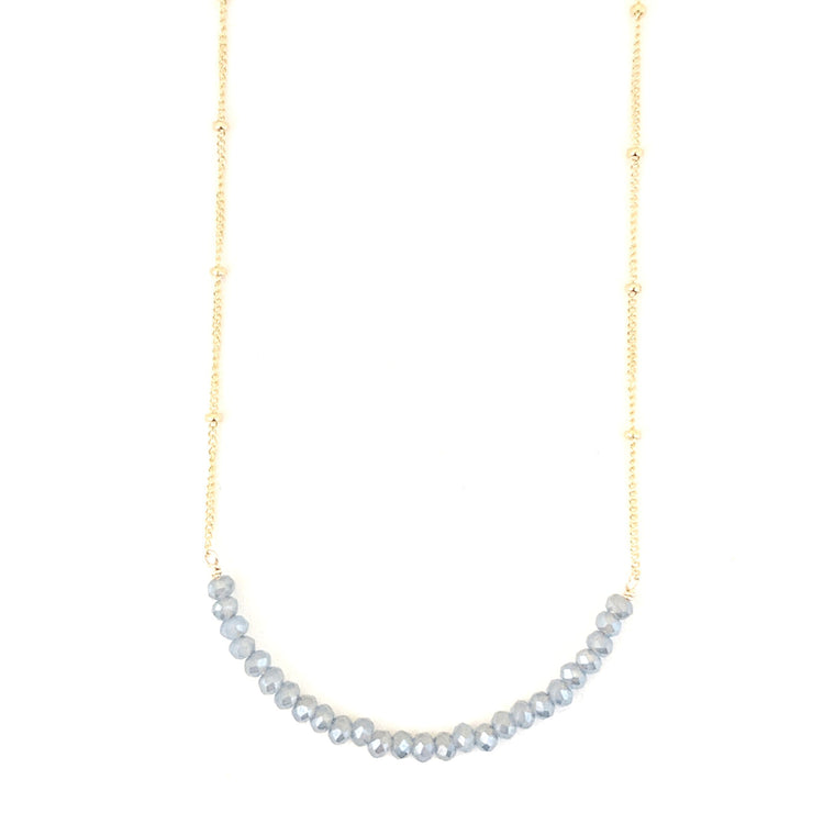 Safa Crystal Bar Necklace