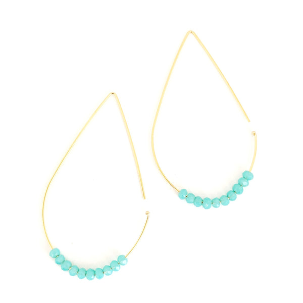 Safa Teardrop Crystal Earrings