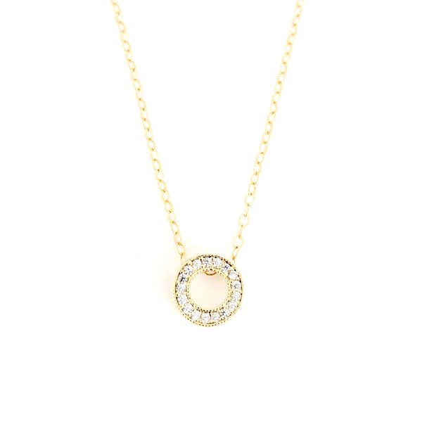 Open Circle Pavé Necklace