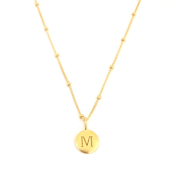 """M"" Mayfair Necklace"
