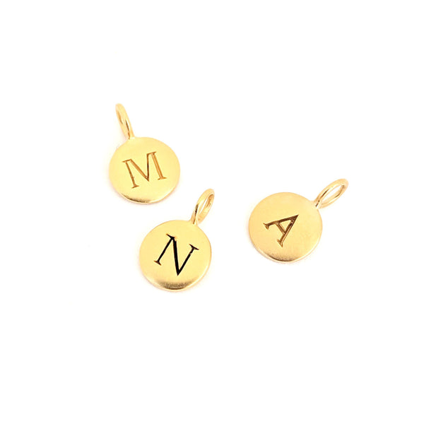 Gold Mayfair Initial Charm (Letter Only)
