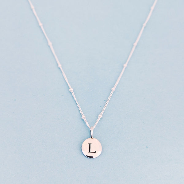 "Silver ""L"" Mayfair Necklace"