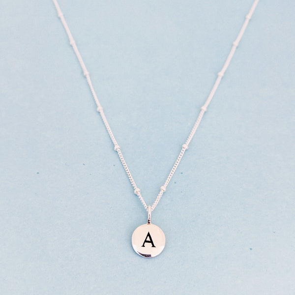 "Silver ""A"" Mayfair Necklace"