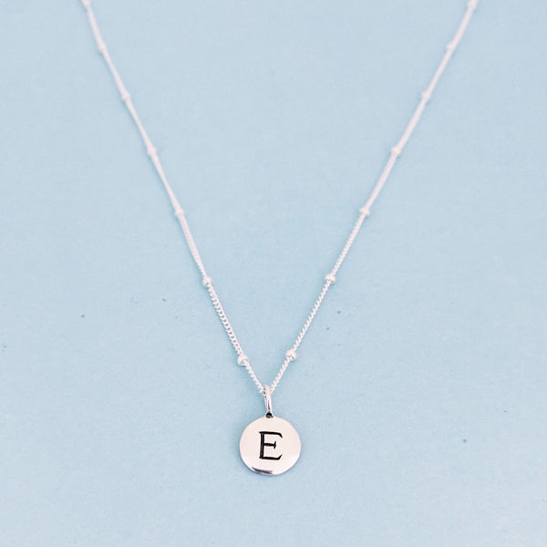 "Silver ""E"" Mayfair Necklace"