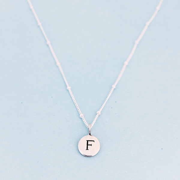 "Silver ""F"" Mayfair Necklace"