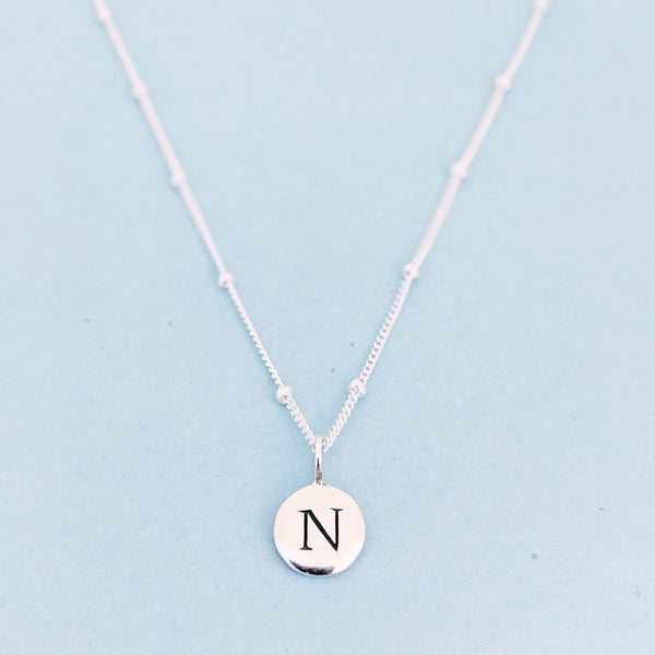 "Silver ""N"" Mayfair Necklace"