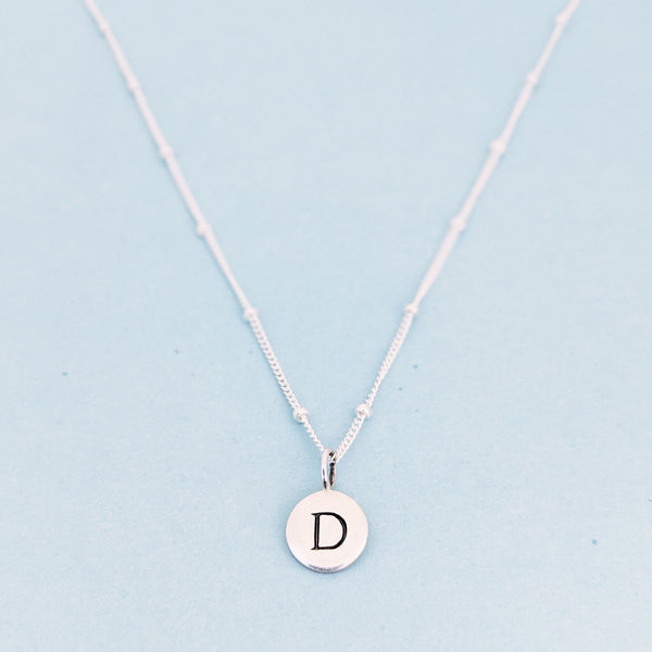 "Silver ""D"" Mayfair Necklace"