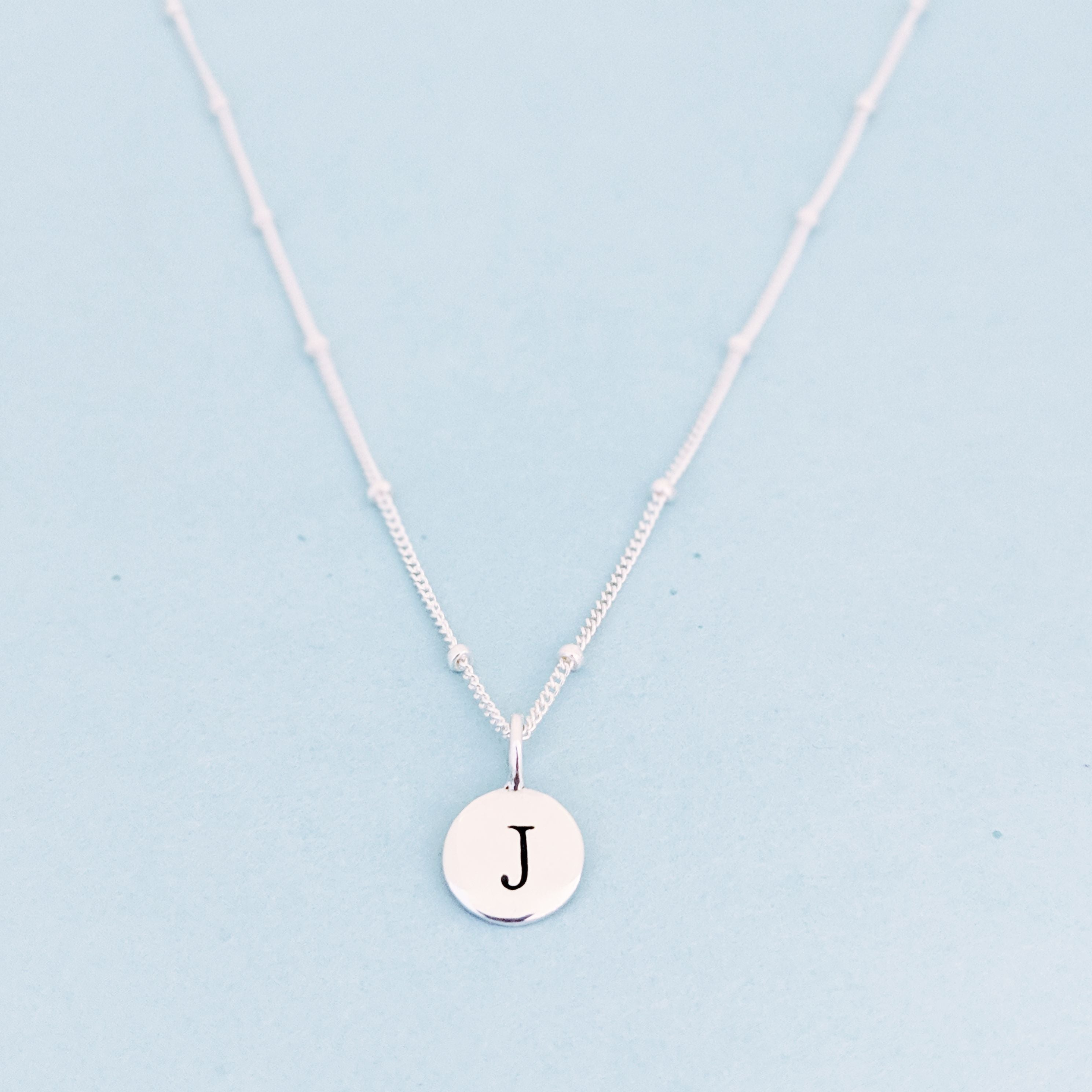 "Silver ""J"" Mayfair Necklace"