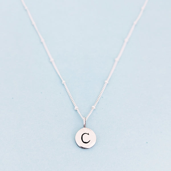 "Silver ""C"" Mayfair Necklace"