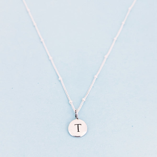 "Silver ""T"" Mayfair Necklace"