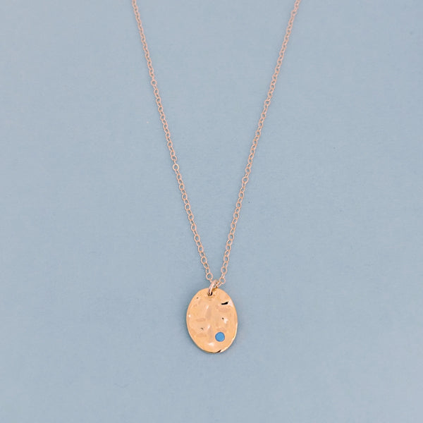 Azura Wavy Disk Necklace