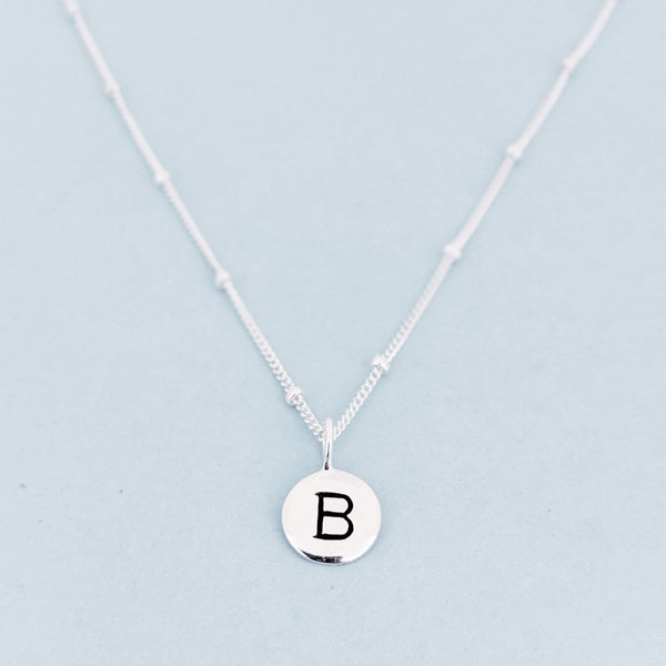 "Silver ""B"" Mayfair Necklace"