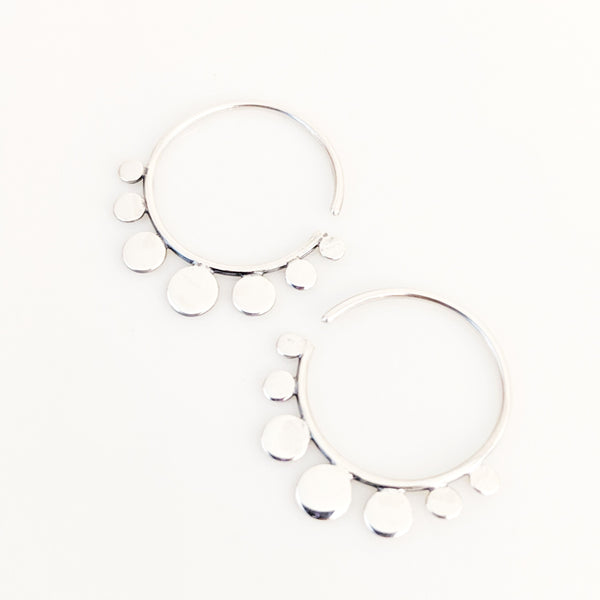 Circle Dot Hoop Earring