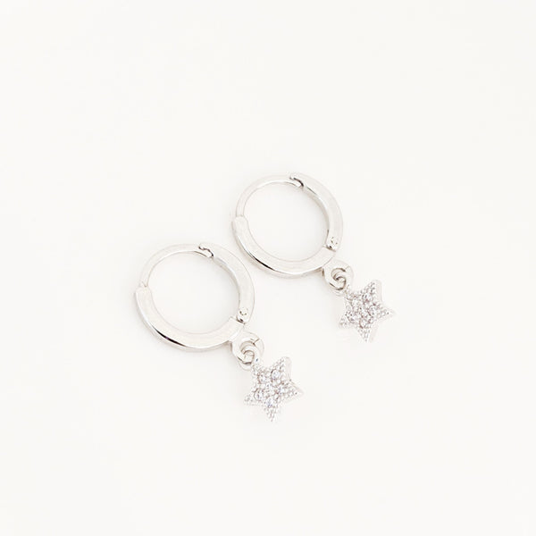 Star Pavé Hugger Earrings