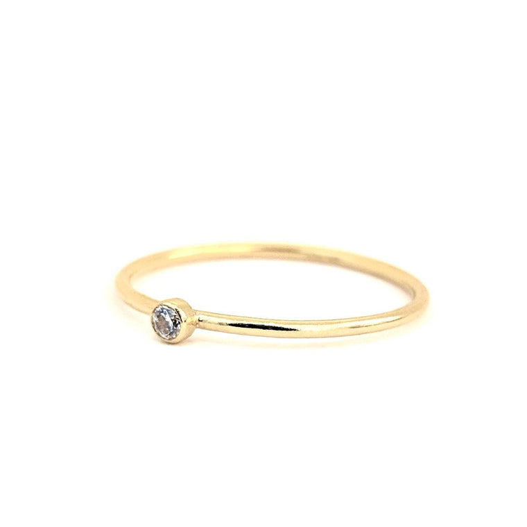 April Birthstone Gem Ring