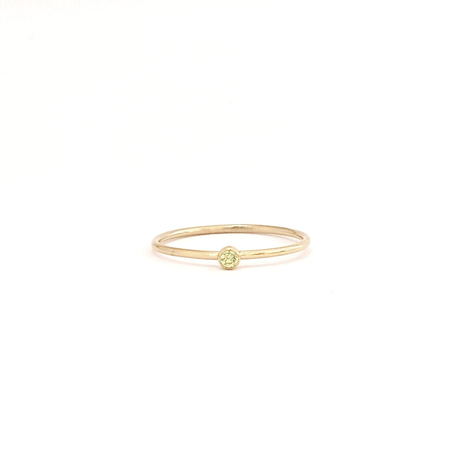 August Birthstone Gem Ring