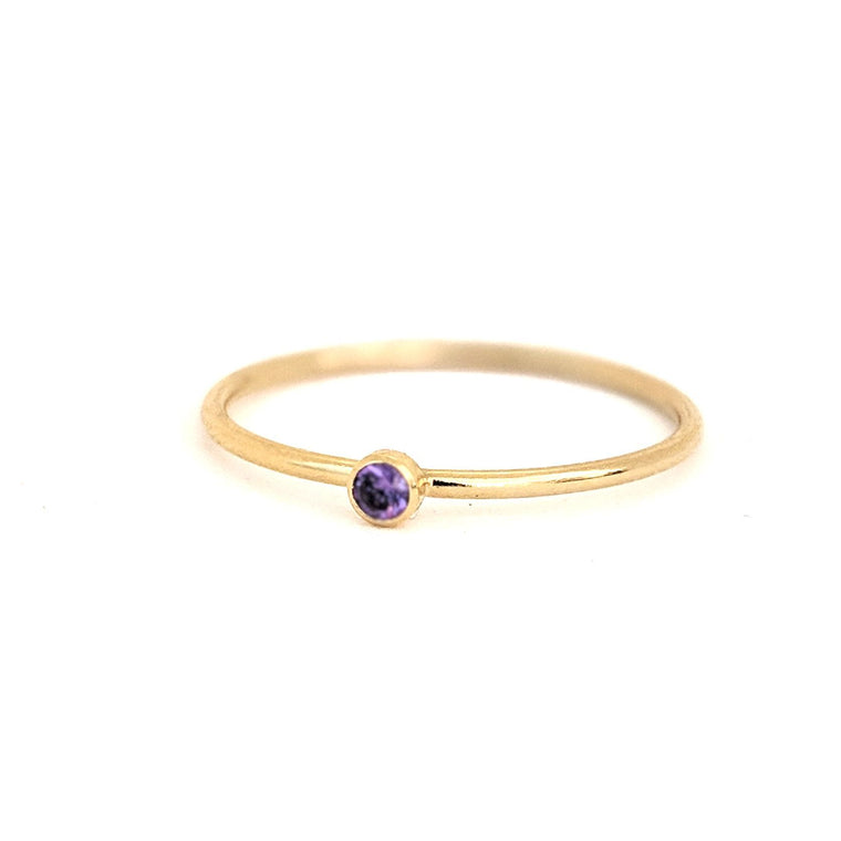 February Birthstone Gem Ring