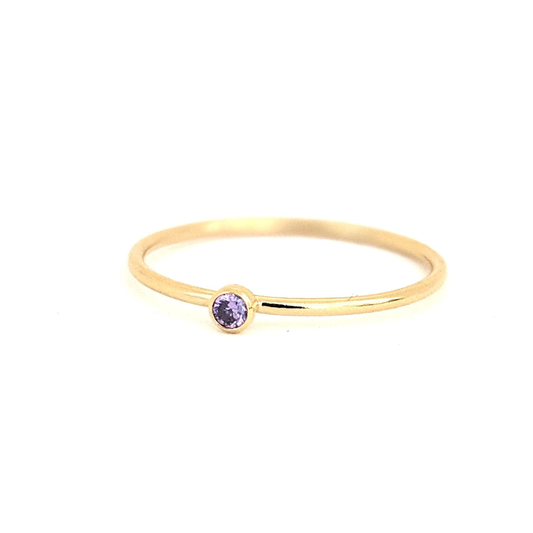 June Birthstone Gem Ring