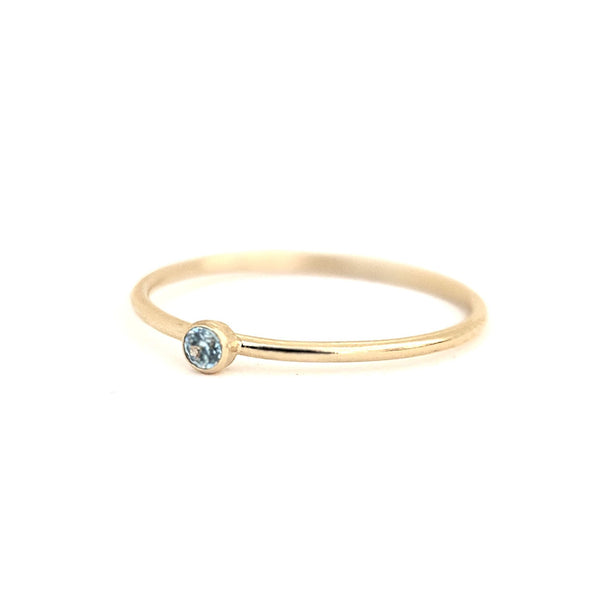March Birthstone Gem Ring