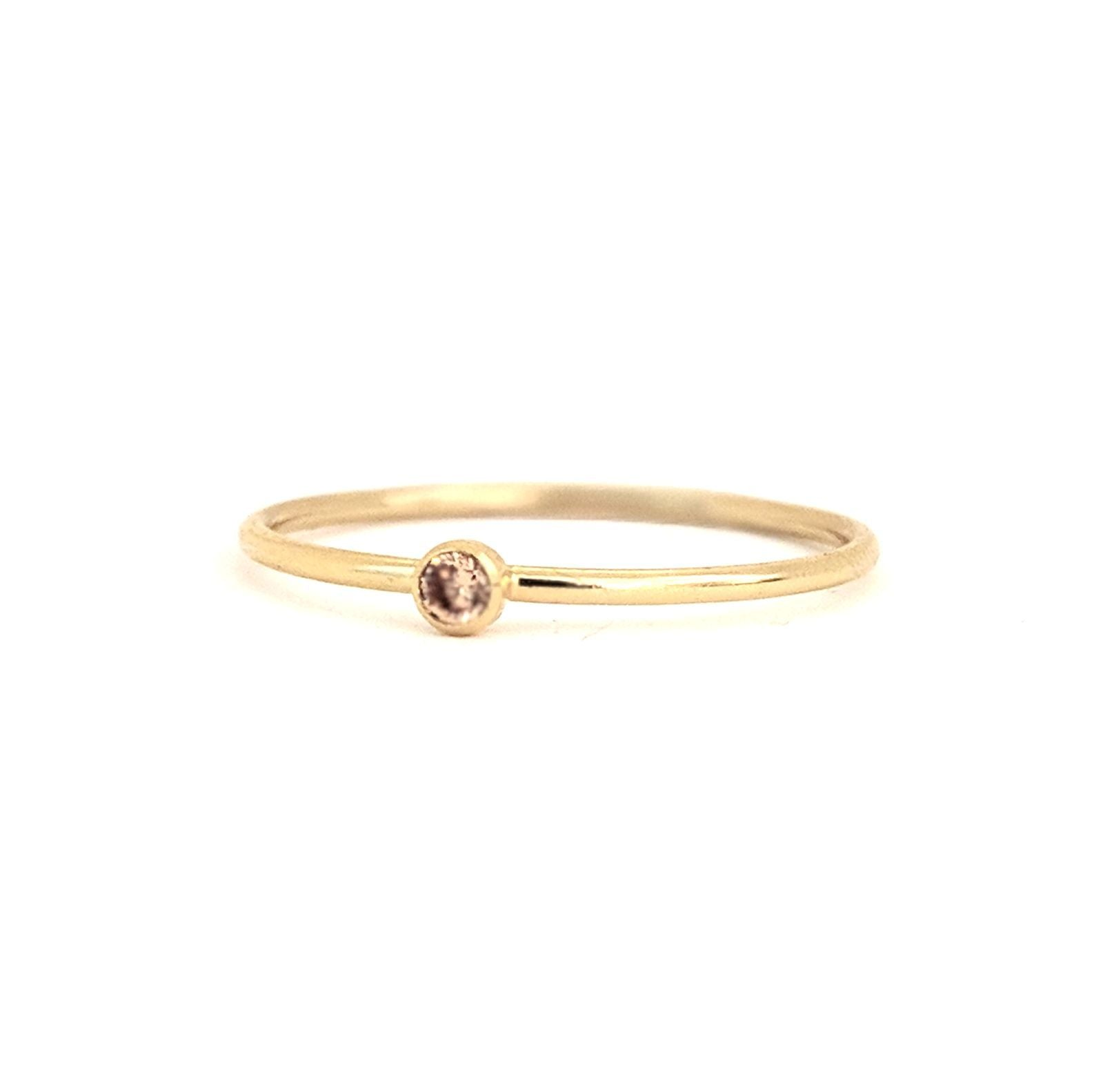 November Birthstone Gem Ring