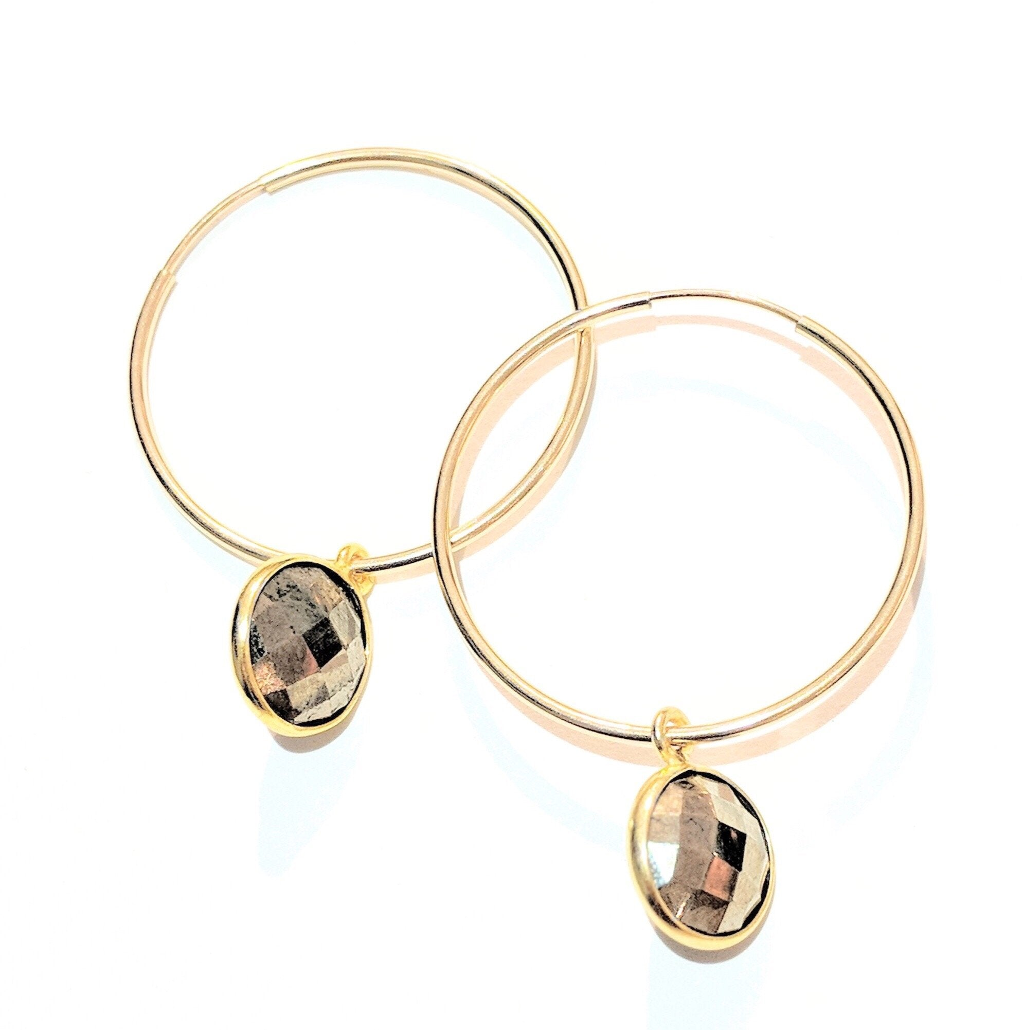 Harrow Gemstone Hoops