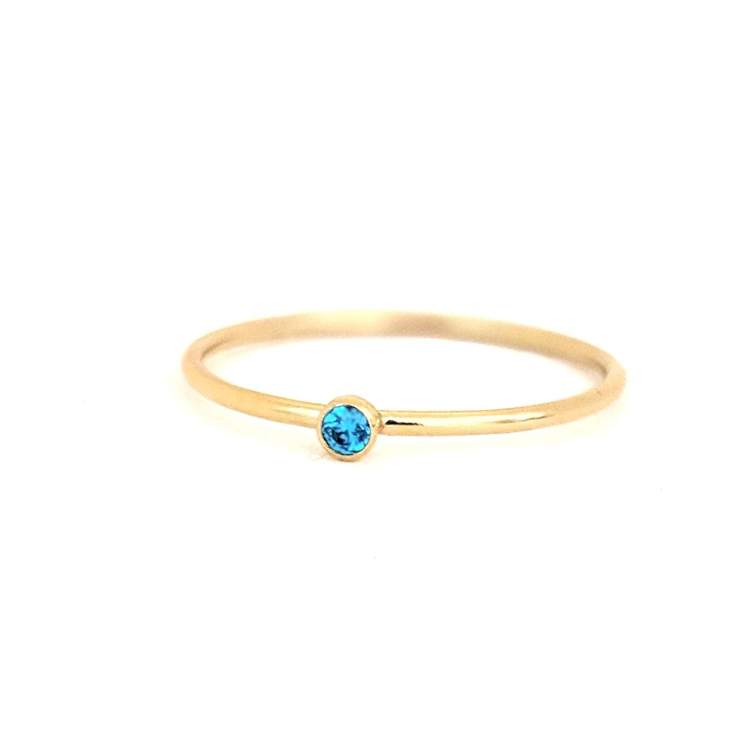 September Birthstone Gem Ring