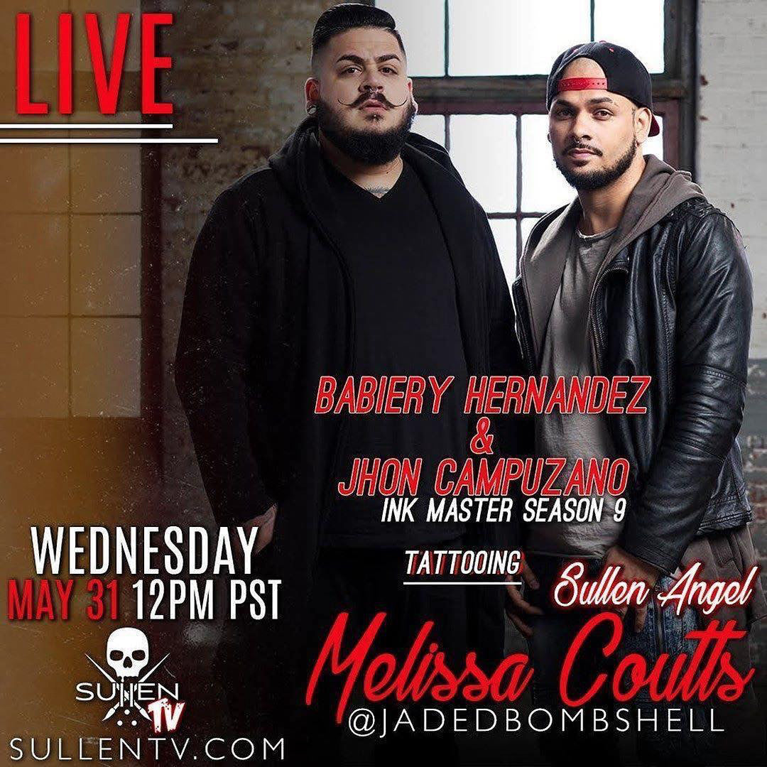 Live Tattoo | Babiery and Jhon collab on a Sullen Angel - Sullen TV