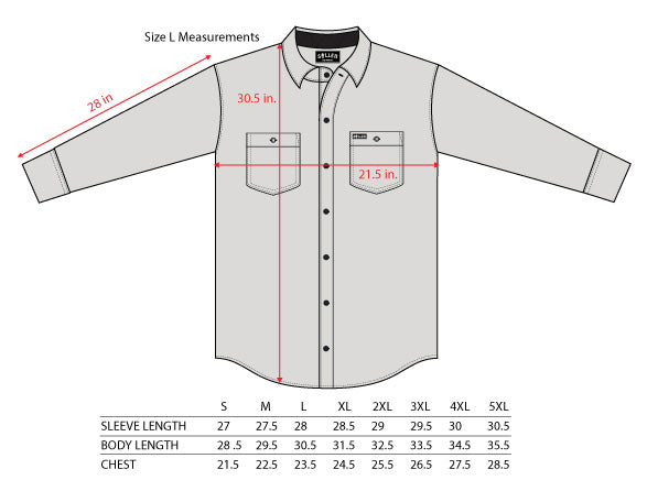 1ceaa645 Size Charts - Sullen Art Co.
