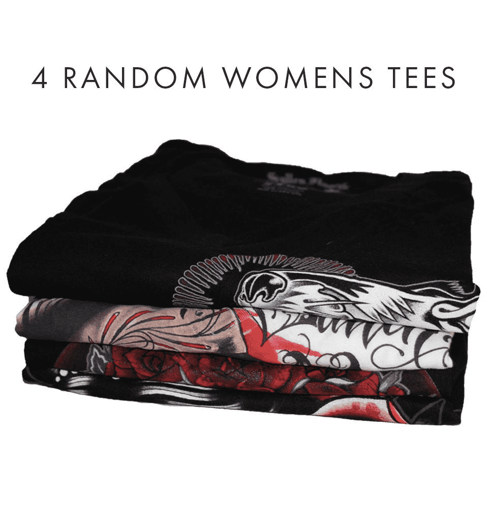 4 Random Womens Tees - Sullen Art Co.