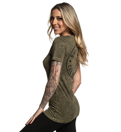 Ever Badge Olive Tee