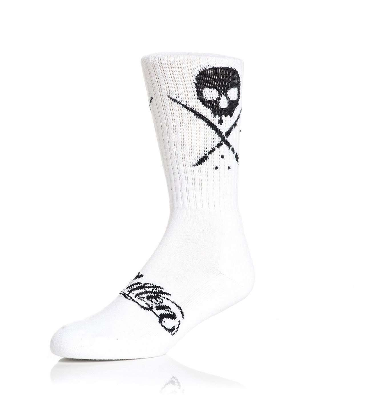 Standard Issue Socks White/Black - Sullen Art Co.