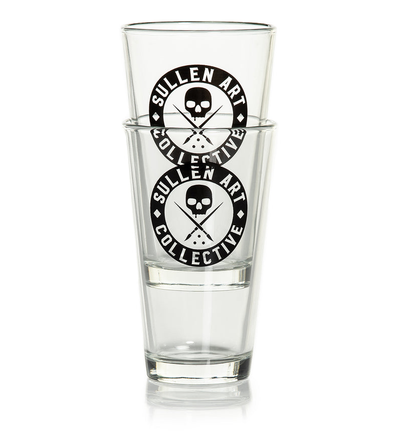 Badge Beer Glass Set Of 2
