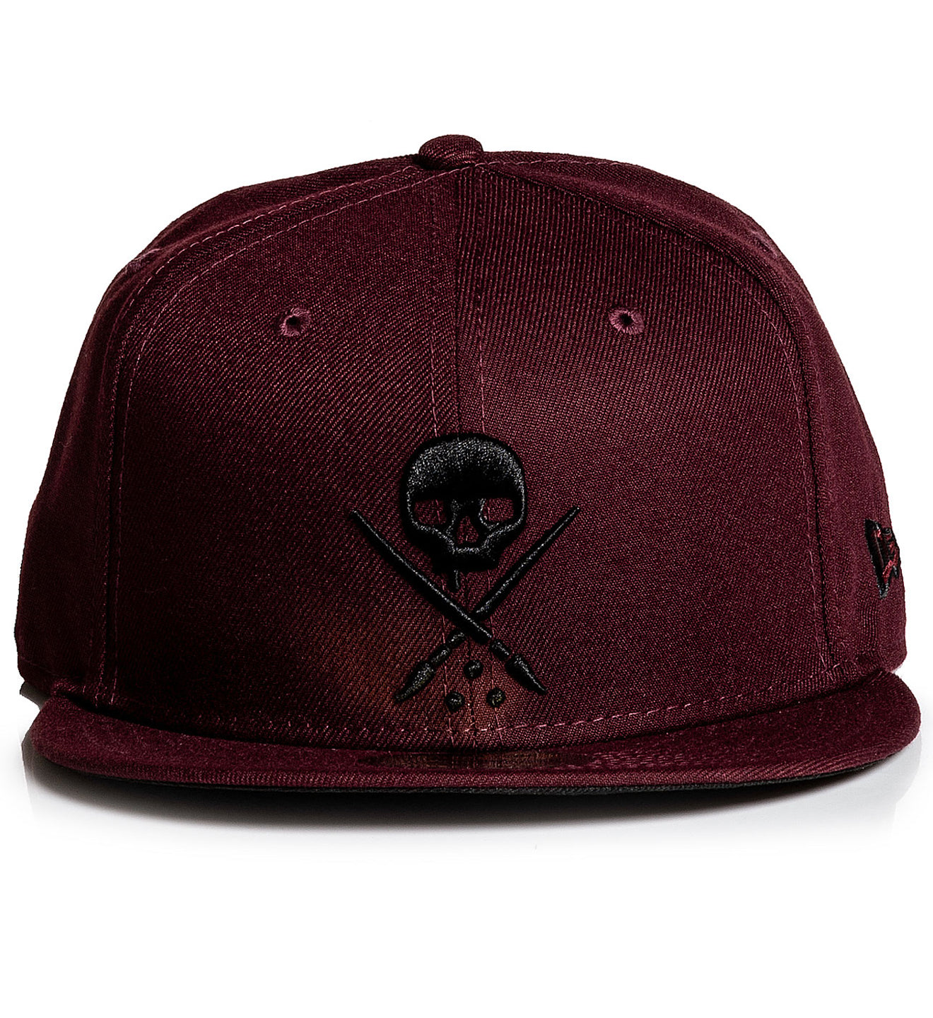 Fitted Badge Maroon
