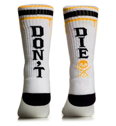 Don't Die High Socks Yellow