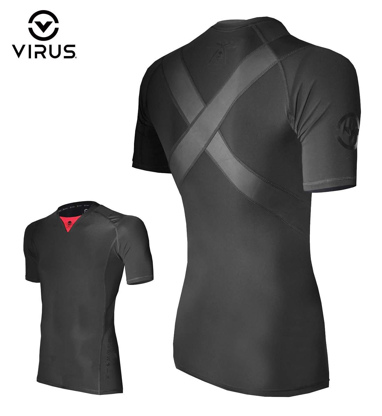 Virus X Sullen Posture Correct Top Black