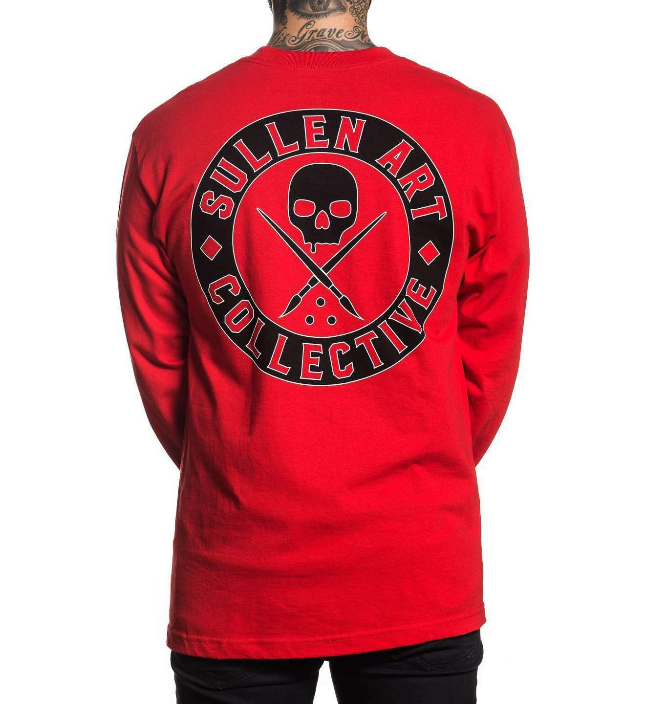 Badge of Honor Long Sleeve Red, RED / M