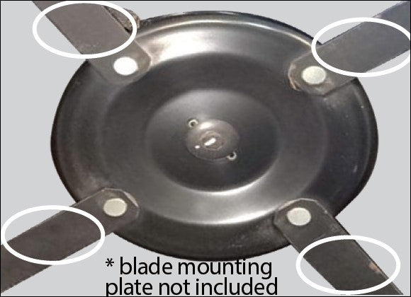 10093-BL (2020) (70065716) - 4 x Swing Blades to suit ALDI 10093 / SLM531 224cc Electric Start Lawn Mower (2020 MODEL ONLY)