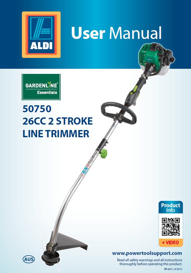 50750 - Spool and Line Assembly (50750-SL) to suit ALDI 50750 / WLBC260X (79000021)