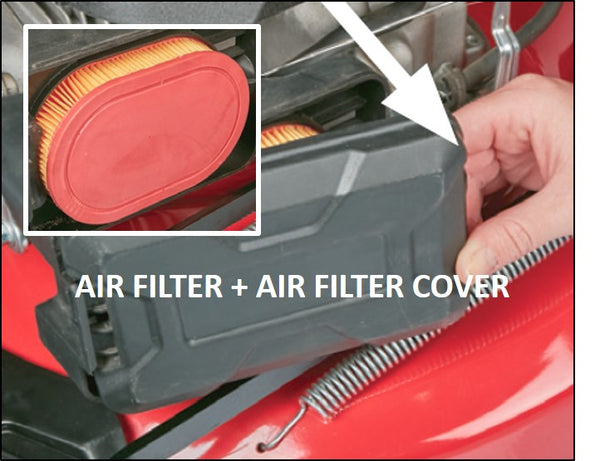 56979-AF/AFC- Air Filter + Air Filter Cover to suit ALDI 56979 / DM53E3-D196 & 59085 / DM46E3P-D173 (70059742), 10093 / SLM530 224cc Lawn Mower, 700304 / SLM464