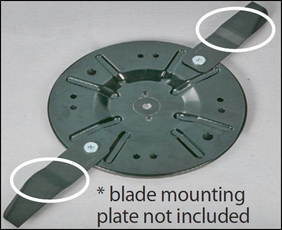 BL - 2 x Swing Blades to suit ALDI / DM46E3P-D173 173cc Electric Start Lawn  Mower (70064111)