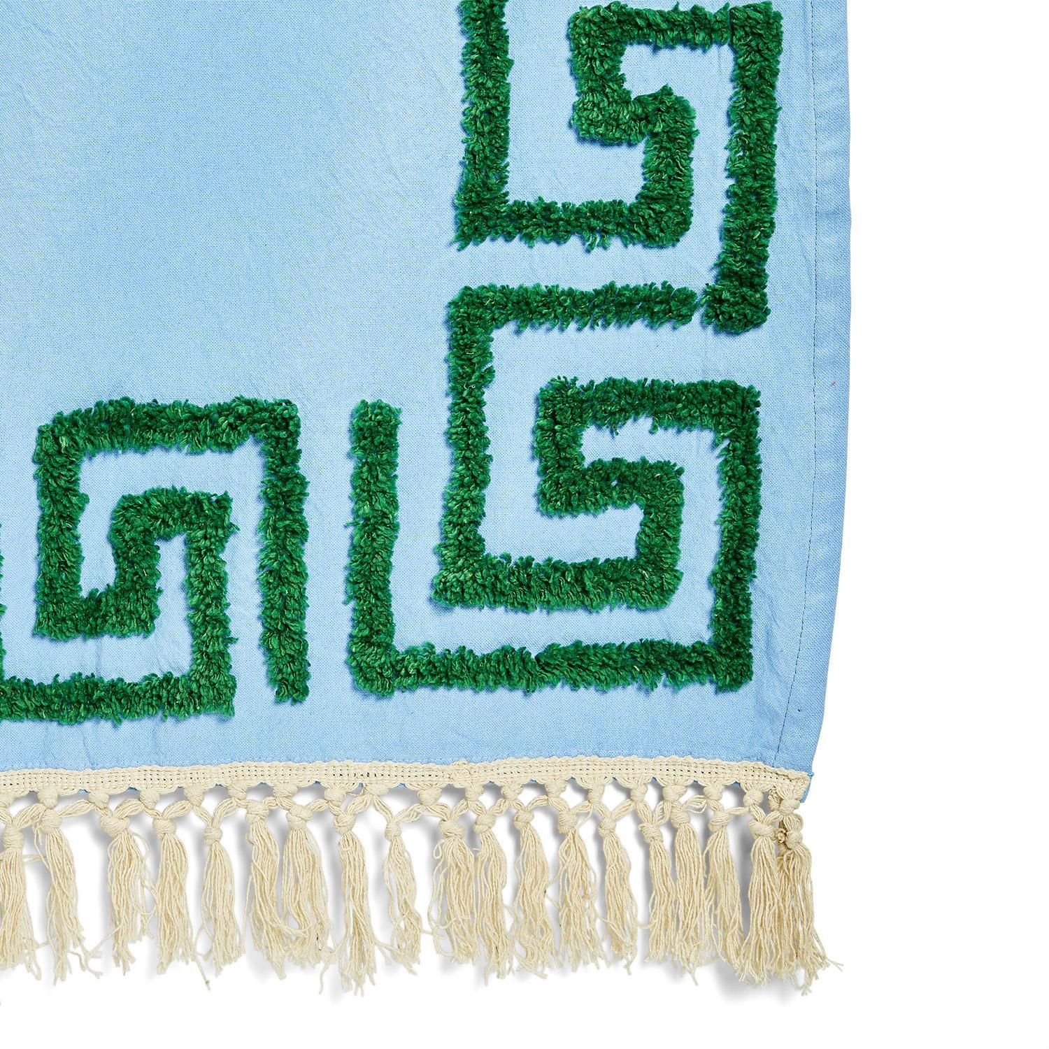Greek Throw Blanket | Blue