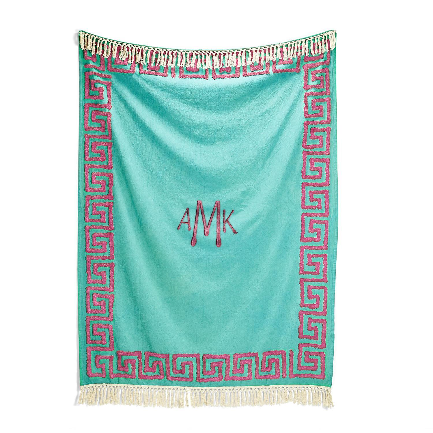 Greek Throw Blanket | Green