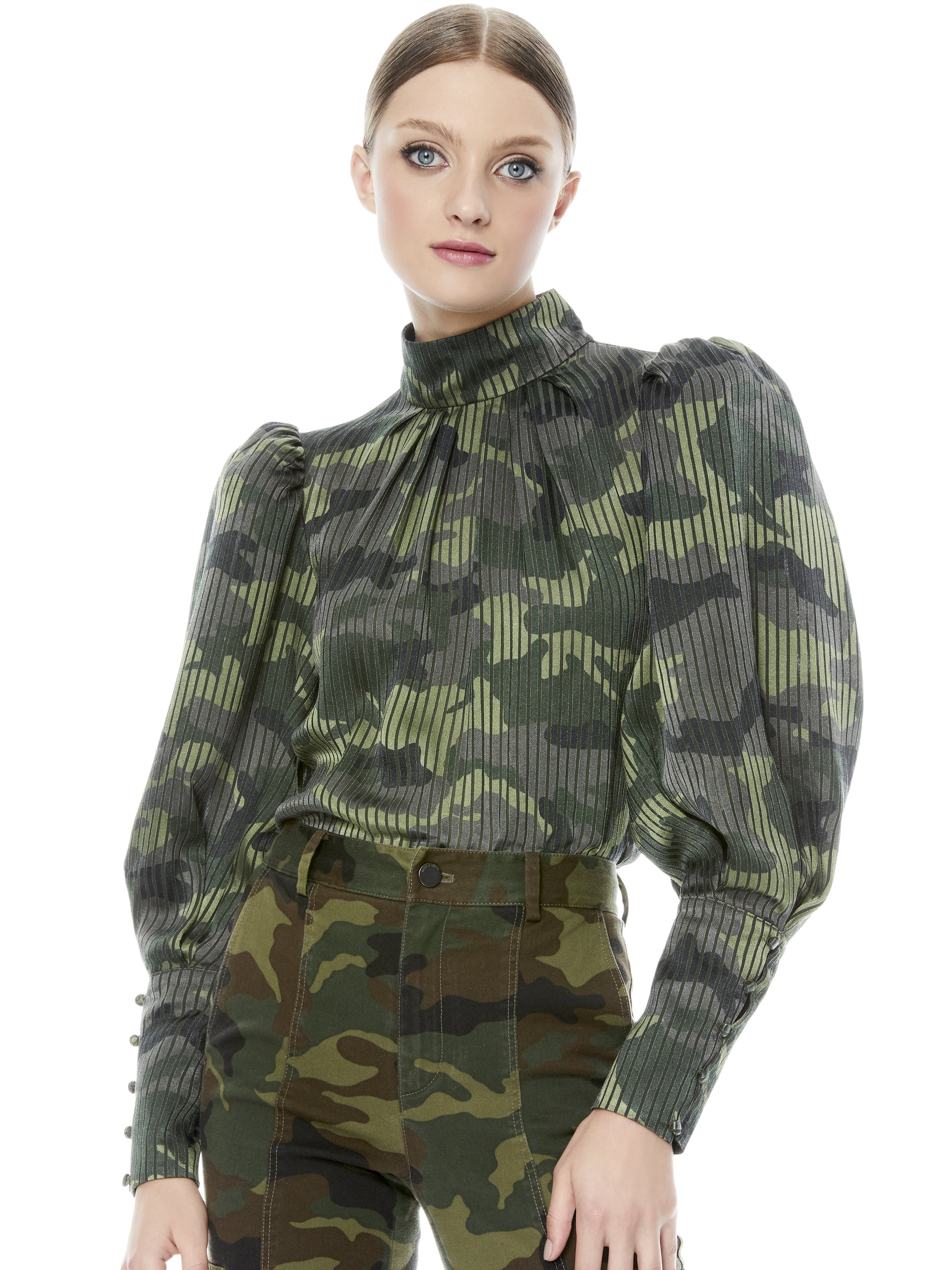 Winslet Puff Sleeve Blouse | Camo Girl
