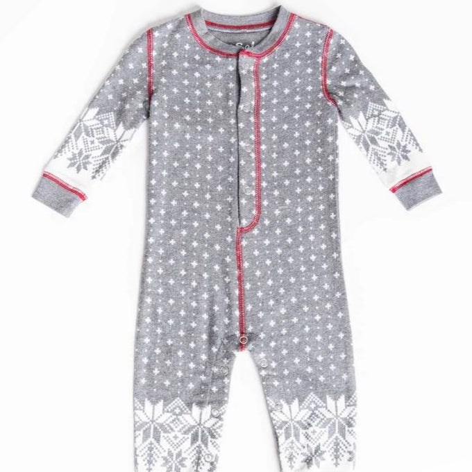 Baby Romper | Snow | Charcoal