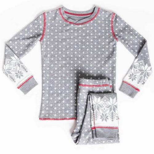 Kid's Pajama Set | Snow | Charcoal