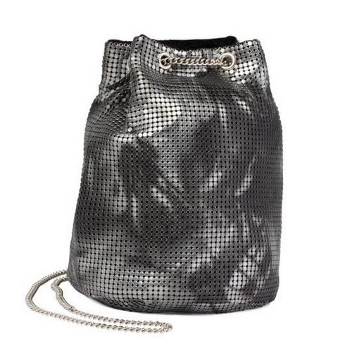 Tie Dye Bucket Bag | Black Pewter