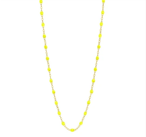 "Gigi Clozeau Necklace | Lime Neon Yellow | 16.5"" to 24.2"""